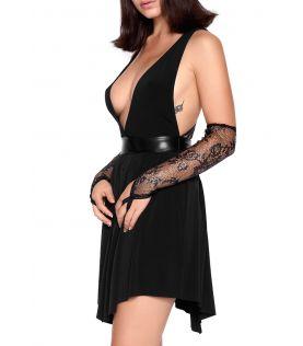 TATIANA Robe noir lycra