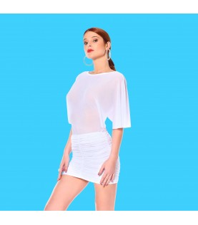 TURQUOISE JUPE BLANCHE
